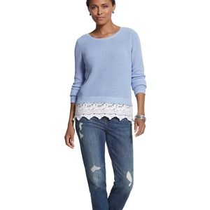 Chicos | Embroidered Hem Brianne Pullover Sweater